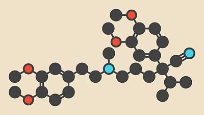 Verapamil Drug Molecule Poster