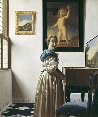 Vermeer, Johannes 1632-1675. A Young Poster by Everett