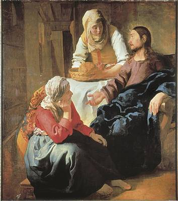Vermeer, Johannes 1632-1675. Christ Poster by Everett