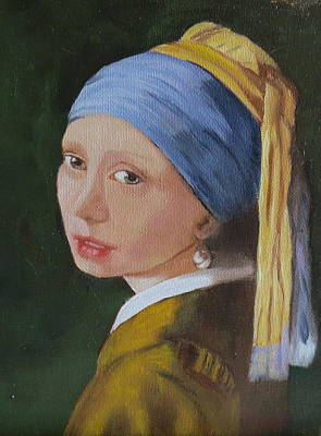 Poster featuring the painting Vermeer Study by Sharon Schultz