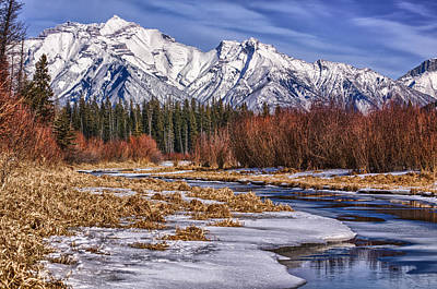 Vermillion Lakes In Winter Poster