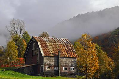 Vermont Autumn Barn Poster