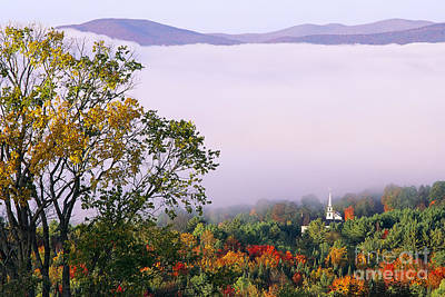 Poster featuring the photograph Vermont Autumn Morning by Alan L Graham