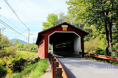Poster featuring the photograph Vermont Covered Bridge by Trina  Ansel