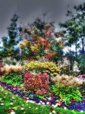 Vermont Fall Garden Poster by John Nielsen