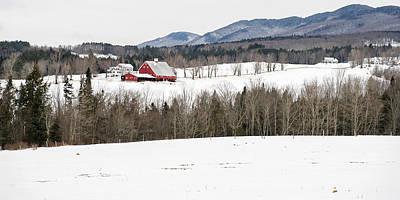 Vermont Farm In Winter Poster