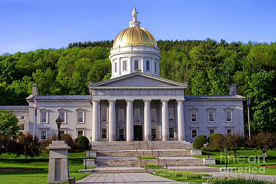 Vermont State Capitol In Montpelier  Poster by Olivier Le Queinec