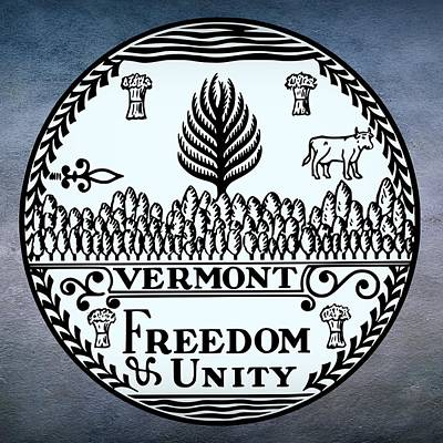 Vermont State Seal Poster