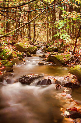Poster featuring the photograph Vermont Stream by Jeff Folger