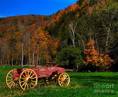 Vermont Wagon Poster