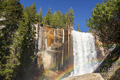 Vernal Falls Rainbow Poster by Jane Rix