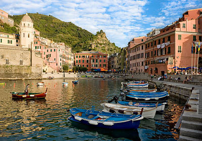Poster featuring the photograph Vernazza Boatman - Cinque Terre Italy by Carl Amoth