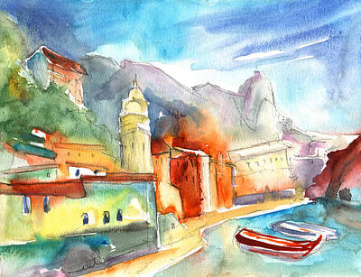 Vernazza In Italy 07 Poster by Miki De Goodaboom
