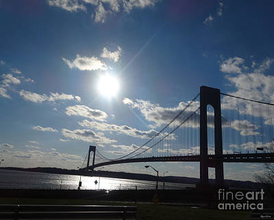 Verrazano Bridge Sunset Poster
