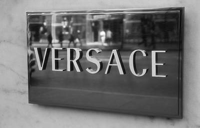 Versace Black And White Poster by Dan Sproul
