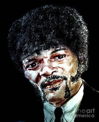Version II Of Samuel L. Jackson As Jules Winnfield In Pulp Fiction       Poster by Jim Fitzpatrick