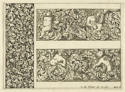 Vertical Panel And Two Friezes, Anthonie De Winter Poster by Anthonie De Winter