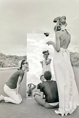 Veruschka On A Photo Shoot Poster