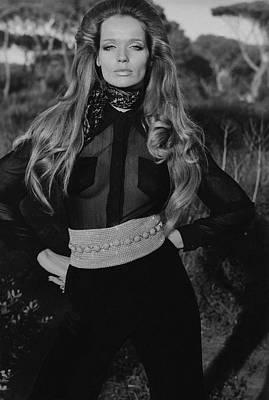 Veruschka Von Lehndorff Wearing A Wearing A Vogue Poster by Franco Rubartelli