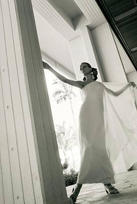 Veruschka Wearing A Stern & Stern Dress Poster