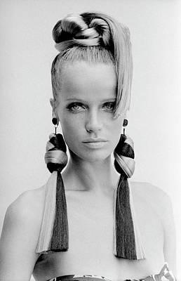 Veruschka Wearing Huff-gallant Earrings Poster