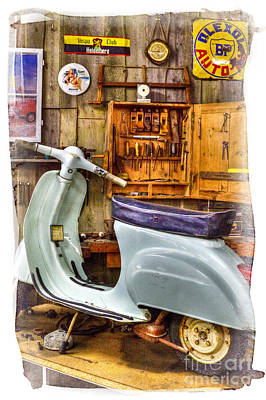 Vespa Scooter Poster by Heiko Koehrer-Wagner