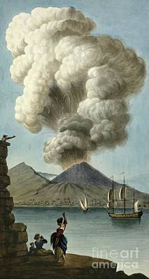 Vesuvius Erupting, 1779, Artwork Poster by British Library