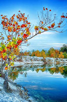 Vibrant Klondike Autumn Poster by Bill Tiepelman