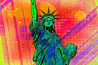 Vibrant Liberty Poster by Az Jackson