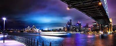 Vibrant Sydney Harbour Poster by Az Jackson