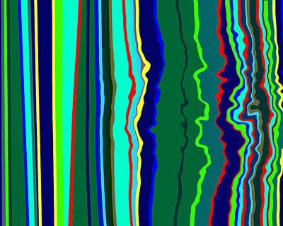 Vibrato Stripes  C2014  Poster by Paul Ashby