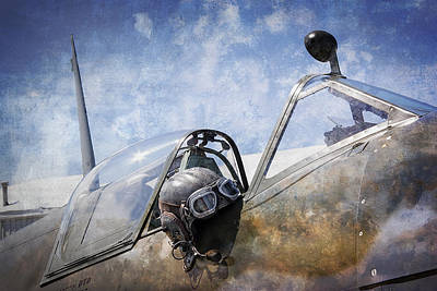 Vickers Spitfire Pilot Cap And Goggles Poster
