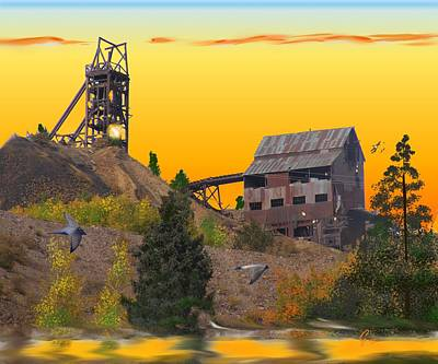 Victor Colorado Gold Mine Poster