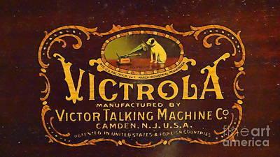 Victor Victrola Label Poster