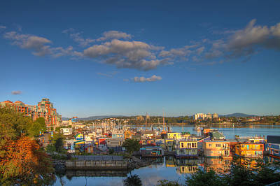 Victoria Bc Fisherman's Wharf Poster by JPLDesigns