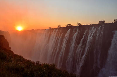 Victoria Falls At Sunset Poster