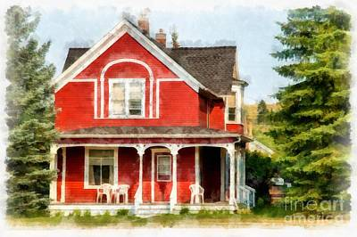 Victorian Home Red Lodge Montana Poster by Edward Fielding