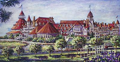 Victorian Hotel Del Poster