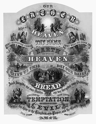 Victorian Lords Prayer Poster