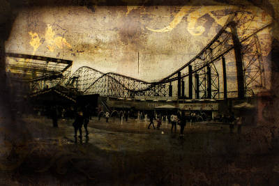 Victorian Roller Coaster - Circa 2014 Poster by Doc Braham