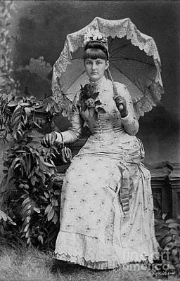 Poster featuring the photograph Victorian Women With Umbrella by Lyric Lucas
