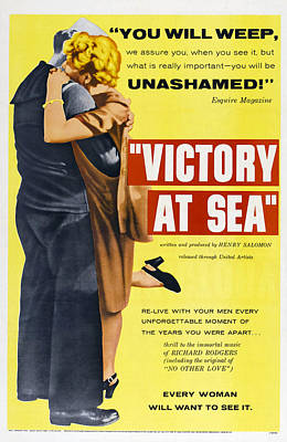 Victory At Sea, Us Poster, 1954 Poster by Everett