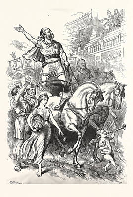 Victory Engraving 1880, Horse, Horses Poster by English School