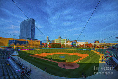 Victory Field Home Plate Poster by David Haskett