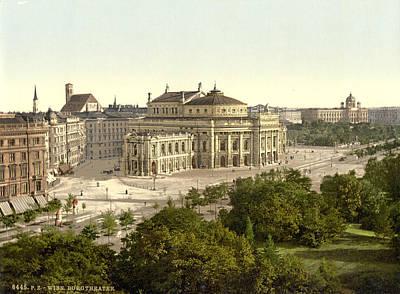 Vienna Burgtheater, C1895 Poster