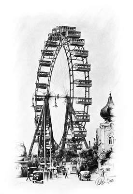 Vienna Ferris Wheel Poster