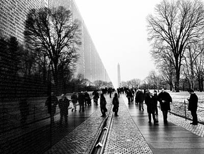 Poster featuring the photograph Vietnam Memorial by Michael Donahue