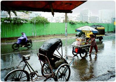 Vietnam Rainy Saigon Poster