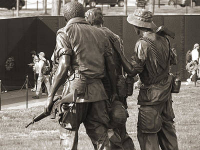 Vietnam Veterans Memorial 2 - Washington Dc Poster by Mike McGlothlen