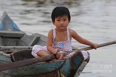 Vietnamese Girl On Lake Tonle Sap Poster